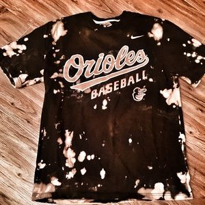 NIKE Orioles baseball custom dyed t-shirt.